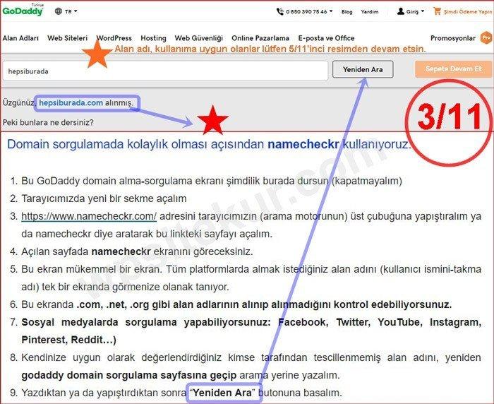 GoDaddy Web Sitesi Kurma - Blog Açmak - Site Kurmak | Domain Sorgulama