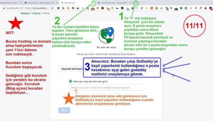 Blog Açma Başlangıcı Site Kurulumu