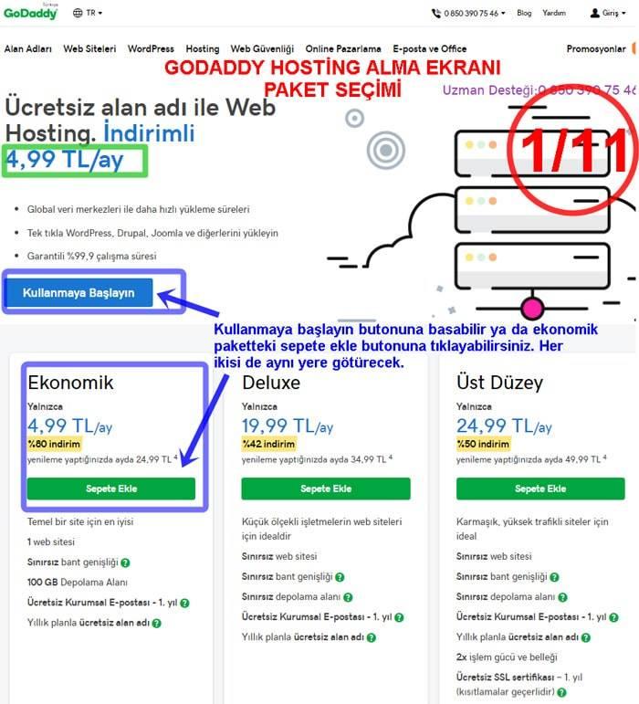 GoDaddy Promostyon Kodu - İndirim Kodu ile Hosting Seçimi Site Kurma - Blog Açma