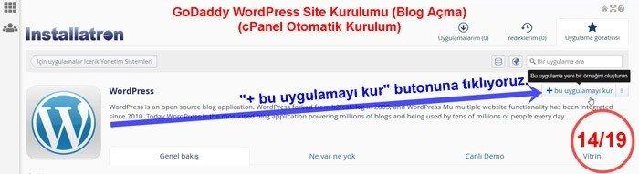 WordPress Uygulaması Kur