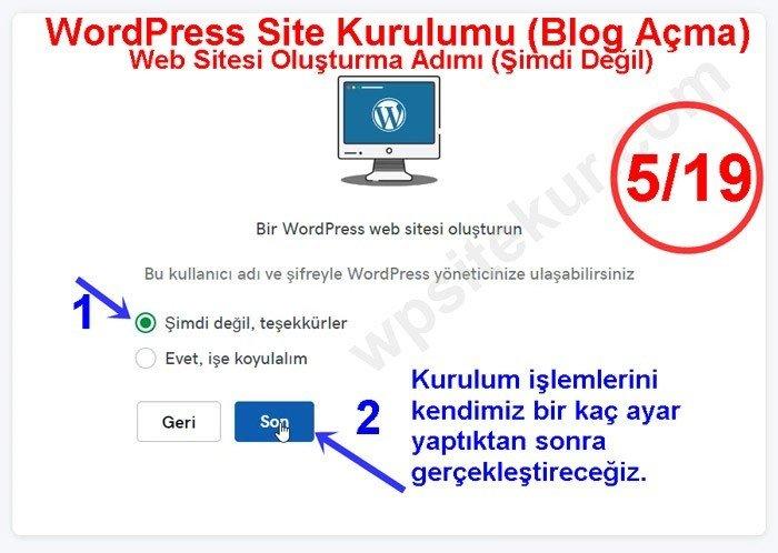 GoDaddy Bir WordPress Web Sitesi Oluşturma