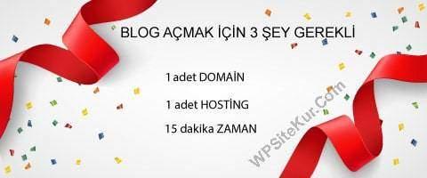 İnternet'te Blog Açmak İçin Gerekenler