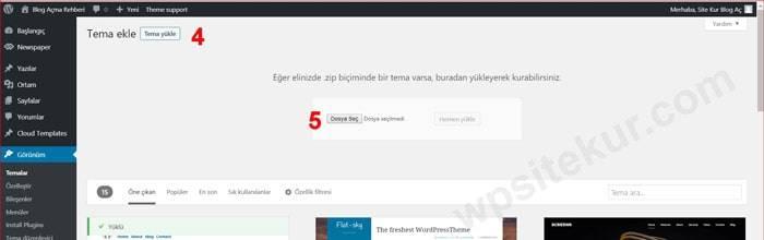 WordPress Tema Yükleme 2