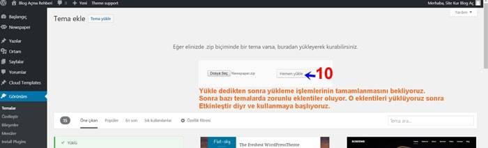 WordPress Tema Yükleme 6