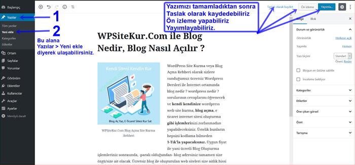 Blog nasıl yazılır | Blog yazısı yayımlama