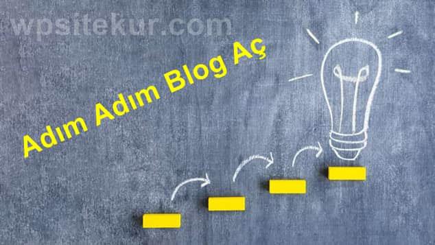 Blog Açmak İsteyenlere Kolay ve Resimli Kurulum Rehberi