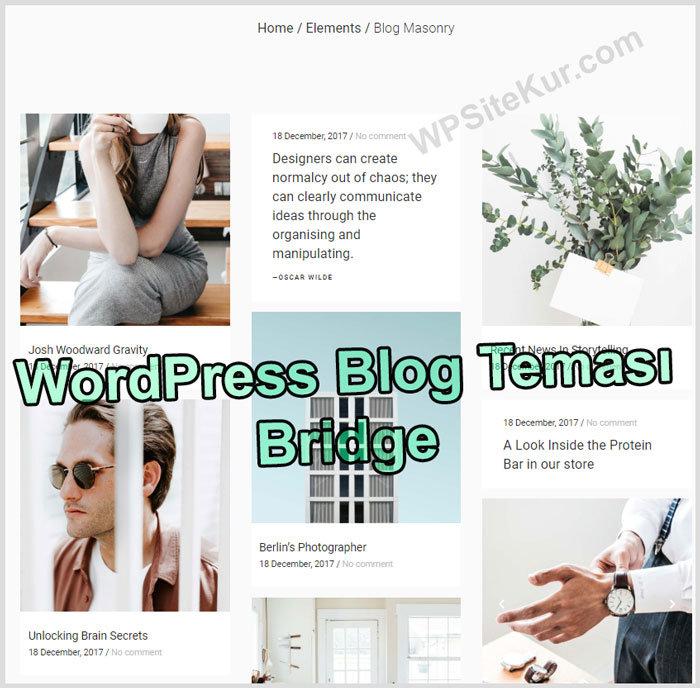 WordPress Blog Temaları Bridge