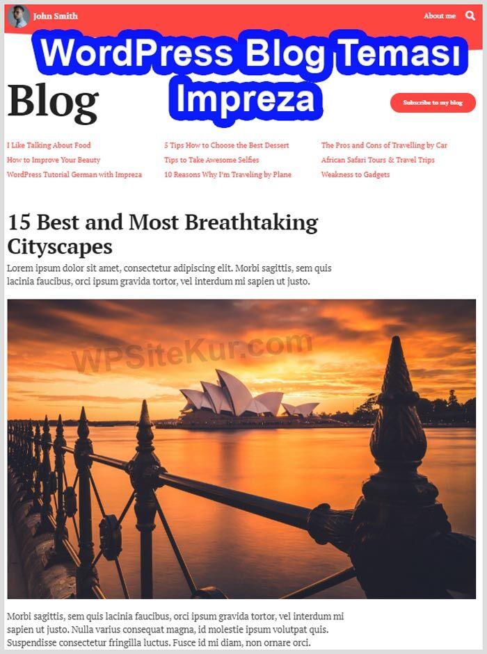 WordPress Blog Teması Ücretli Premium Impreza