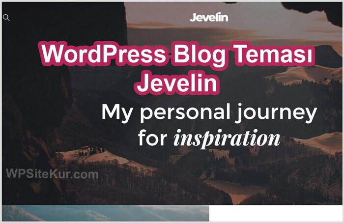 WordPress Blog Teması Ücretli Premium Jevelin