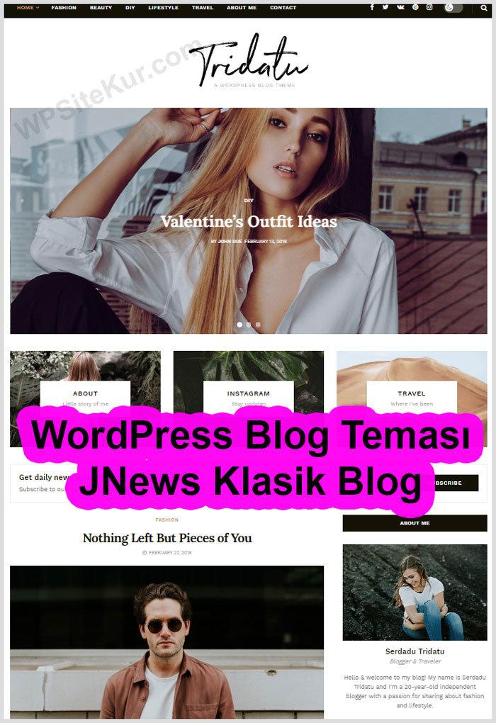 Kişisel Blogger Teması JNews