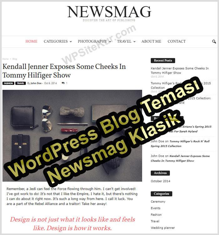 En İyi Ücretli WP Blog Teması Newsmag