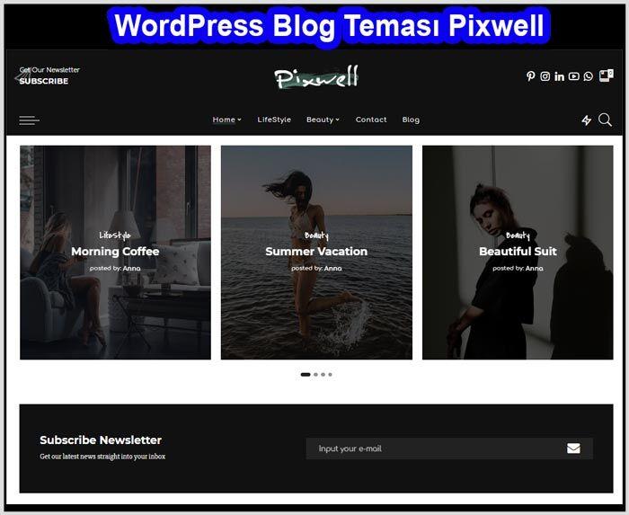 WordPress WordPress Blog Teması Ücretli Premium Pixwell