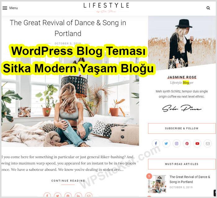 WordPress Blog Teması Ücretli Premium Sitka