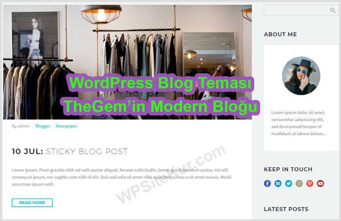 WordPress Blog Teması Ücretli Premium TheGem