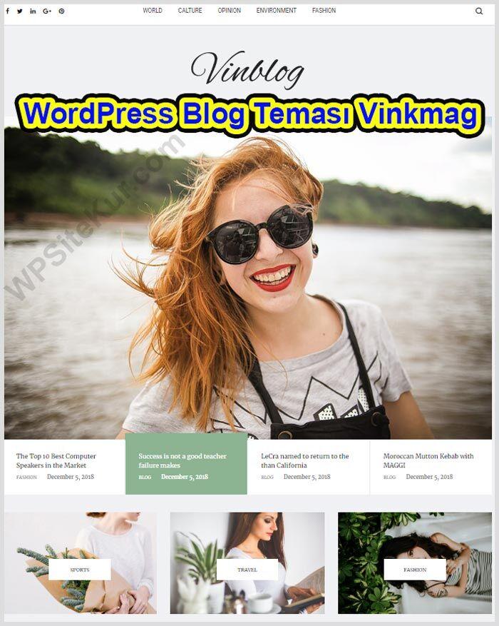 WordPress Blog Teması Vinkmag (Kişisel Ücretli WP Themes)