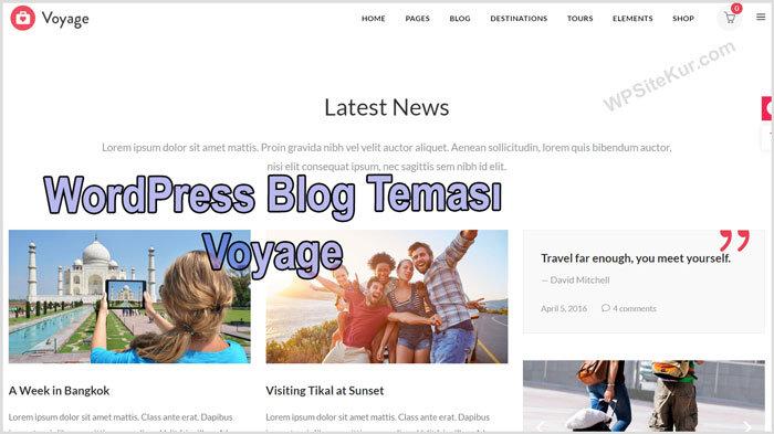 WordPress Blog Temasıları Voyage