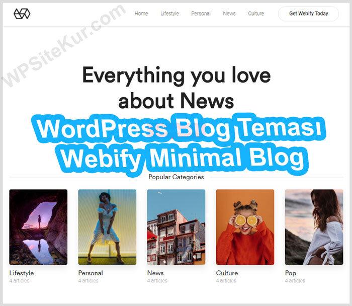 WordPress Blog Teması Ücretli Premium Webify
