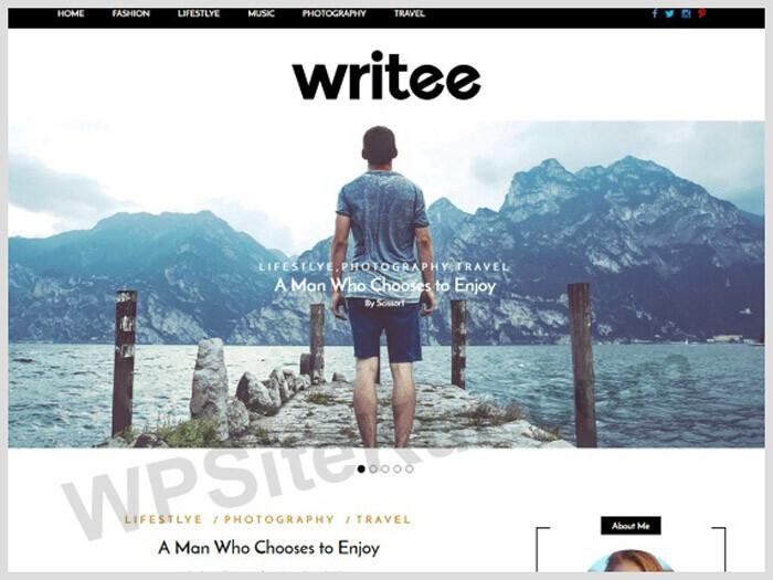 Writee - Ücretsiz WP Blog Temaları