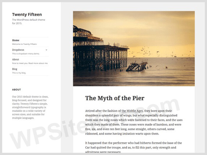 Twenty Fifteen - Ücretsiz WordPress Blog Teması
