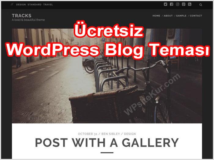 WordPress En İyi Blog Temaları Tracks Ücretsiz