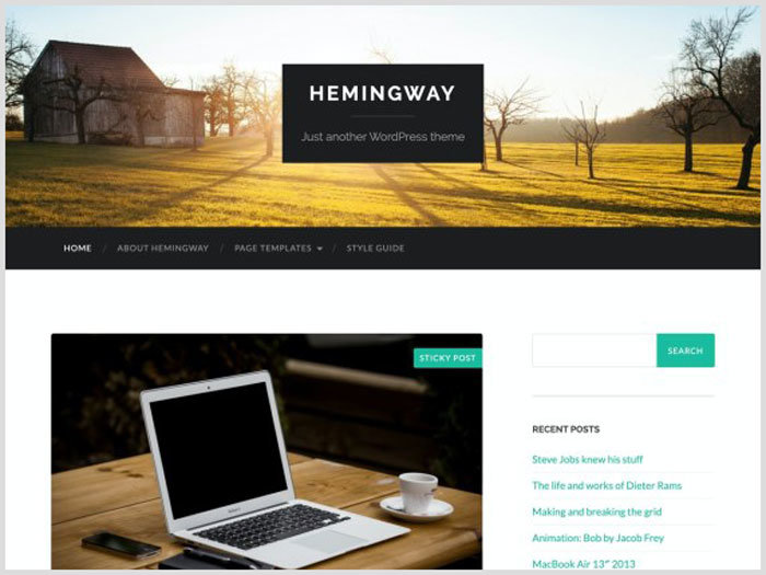 WordPress Blog Teması Hamingway