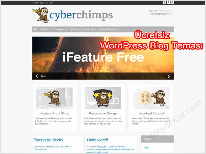 WordPress Blog Teması ifeature Ücretsiz