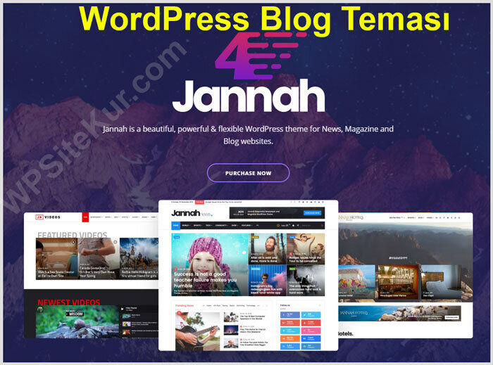 WordPress Blog Teması Ücretli Premium Jannah