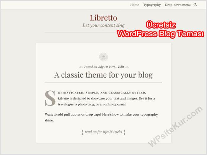 WordPress Kişisel Blog Teması Libretto