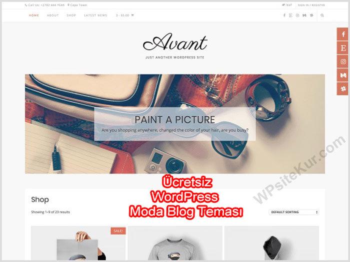 WordPress Moda Blog Teması Ücretsiz Avant