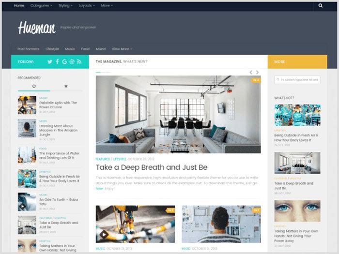 WordPress Kişisel Blog Teması Hueman