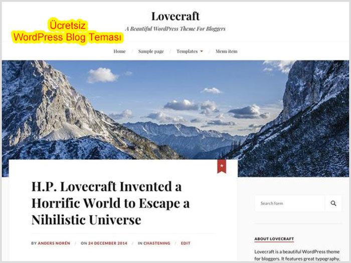 WordPress Kişisel Blog Temaları Lovecraft