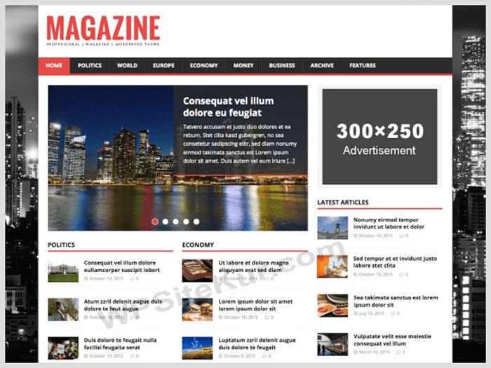 WordPress Blog Temaları - MH Magazine Lite