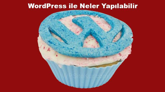 WordPress ile Neler Yapılabilir: WP ile her çeşit İnternet sayfası yapılabilir.