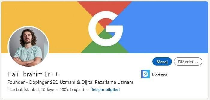 Dijital Pazarlama ve SEO Uzmanı Halil İbrahim Er Profili - 3. Sıra