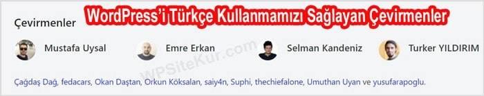 WordPress Türkçe Dil Çevirmenleri